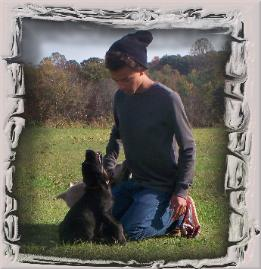 Davin and black pup