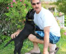 Steve and Black Silver factored puppy